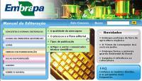 Embrapa - Site sobre o Manual de padronização e editoração da Embrapa